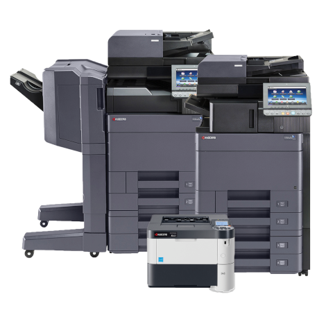 Kyocera TASKalfa 3553ci Multifunction Printer, Kyocera TASKalfa 4003i Multifunction Printer, and Kyocera ECOSYS Printer