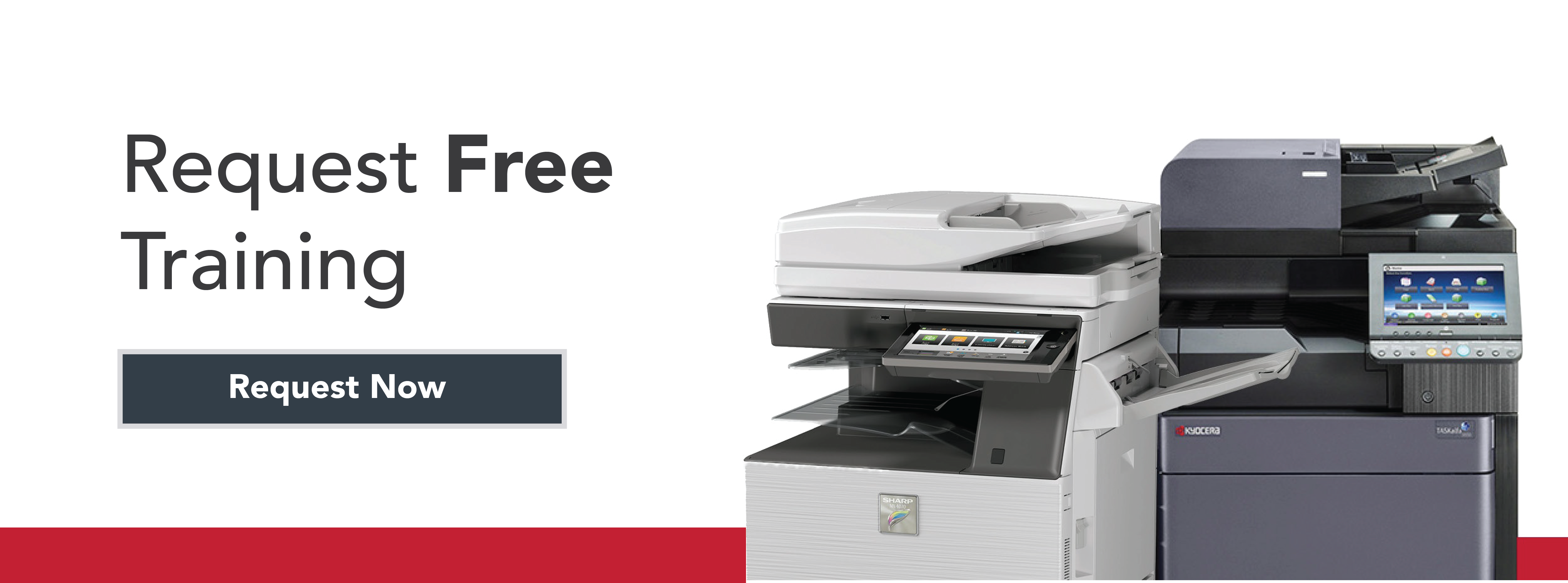 AOS Free Copier and Printer Training Request Now Button
