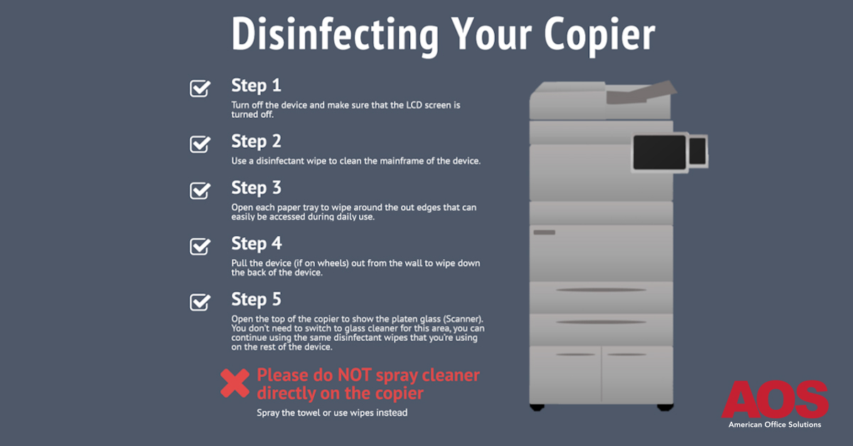 Cleaning / Disinfecting Your Office Copiers and Printers